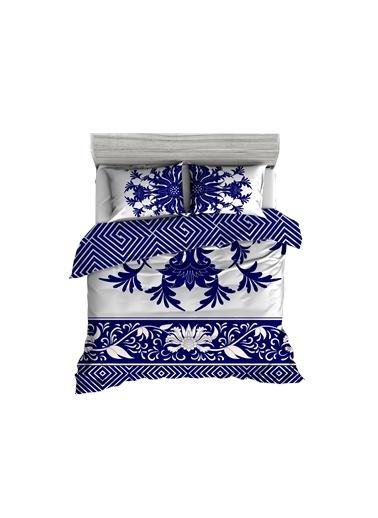 Helen George Helen George China 200 X 220 Cm Çift Kişilik Desenli Pamuk Saten Nevresim Takımı Mavi